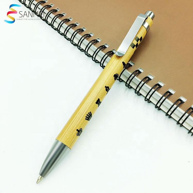 Подарочный набор из натурального материала, деревянная Экологически чистая бамбуковая шариковая ручка
