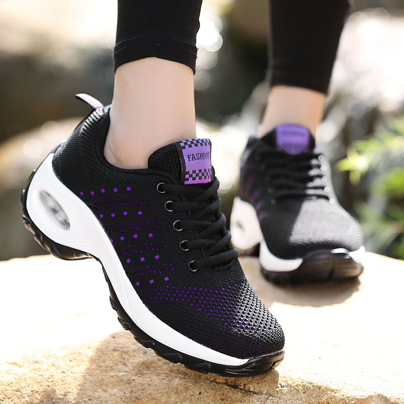 Fashion Women Lightweight Sneakers Air Cushion Lace Up Outdoor Sports Shoes Breathable Mesh Comfort Running Shoes Buy Running Shoes Custom Shoes Fashion Shoes Product On Alibaba Com