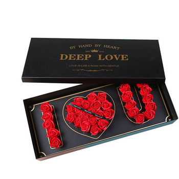 Wholesale rectangular flower box I LOVE YOU gift box