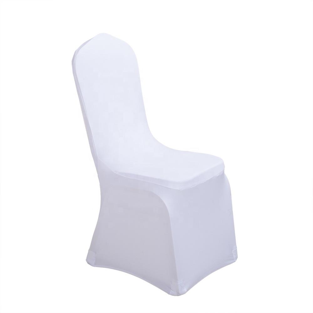 White Scuba Spandex Stretch Wedding Chair Covers