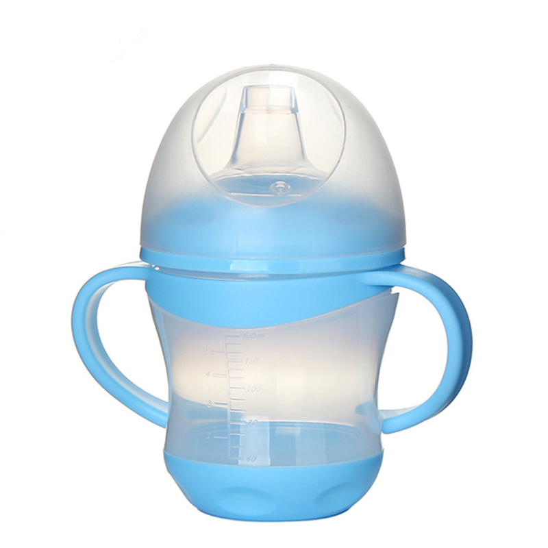 160ml Duck Mouth Children Sippy Cup Learn Feeding Water Bottle Baby Drinking Cup With Handle Kids Training