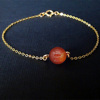 10MM Red Carnelian + Gold Chain