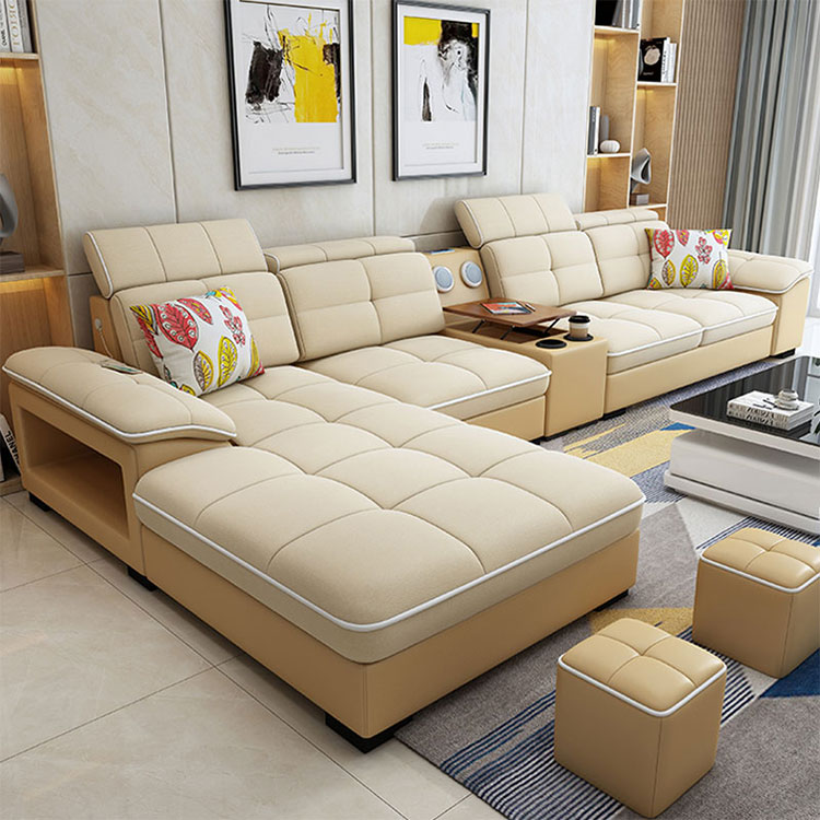 Cloth art  small family combination sitting room outfit suit modern and contracted corner  can be dismantled and washed sofa
