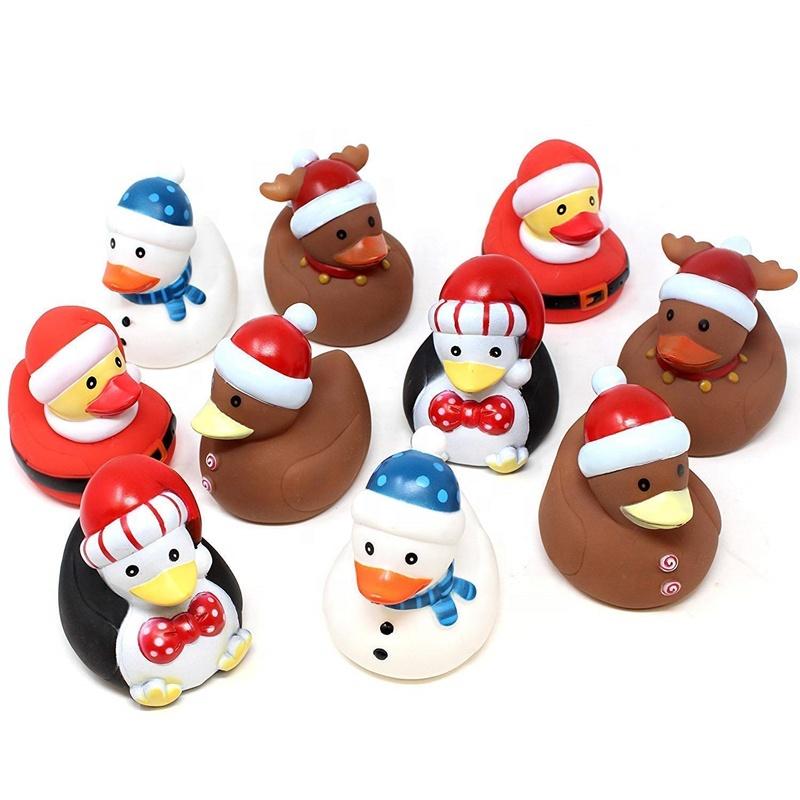 Custom Ducky toy bath mini floating Christmas holiday rubber duck