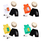 new style summer baby clothes top quality cotton sporty vest suit boys clothes set