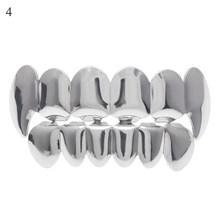 Хип-хоп золотые зубы Grillz верхние и нижние грили зубные рот Панк зубы шапки Косплей вечерние зуб рэппер ювелирные изделия подарочные аксессу...(Китай)