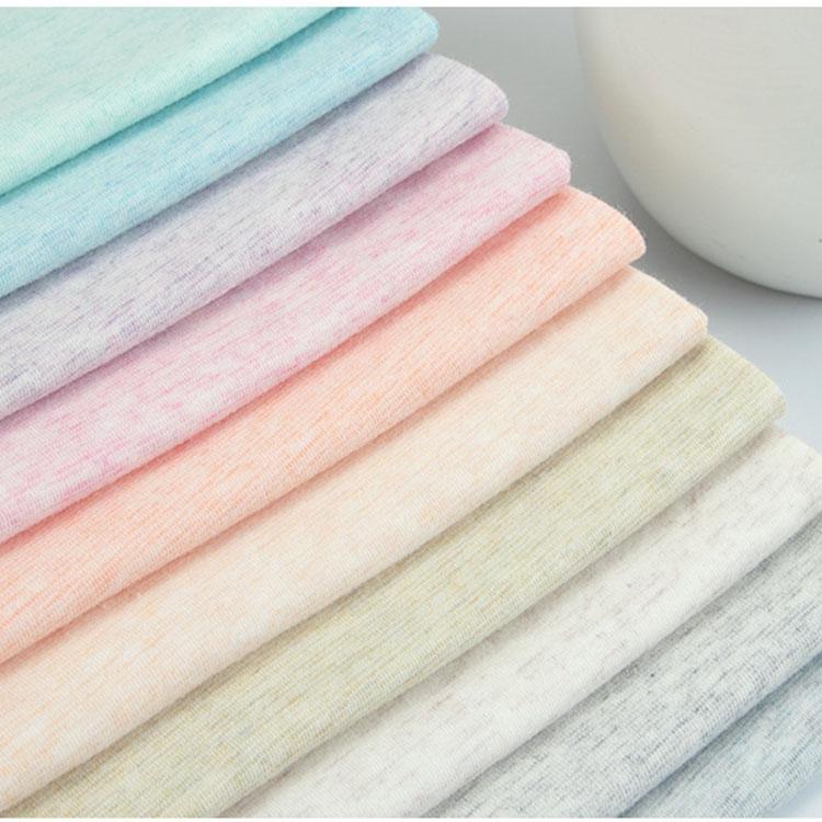 Hot sell skin-friendly organic cotton jacquard heatherd yarn organic cotton jacquard for family or children