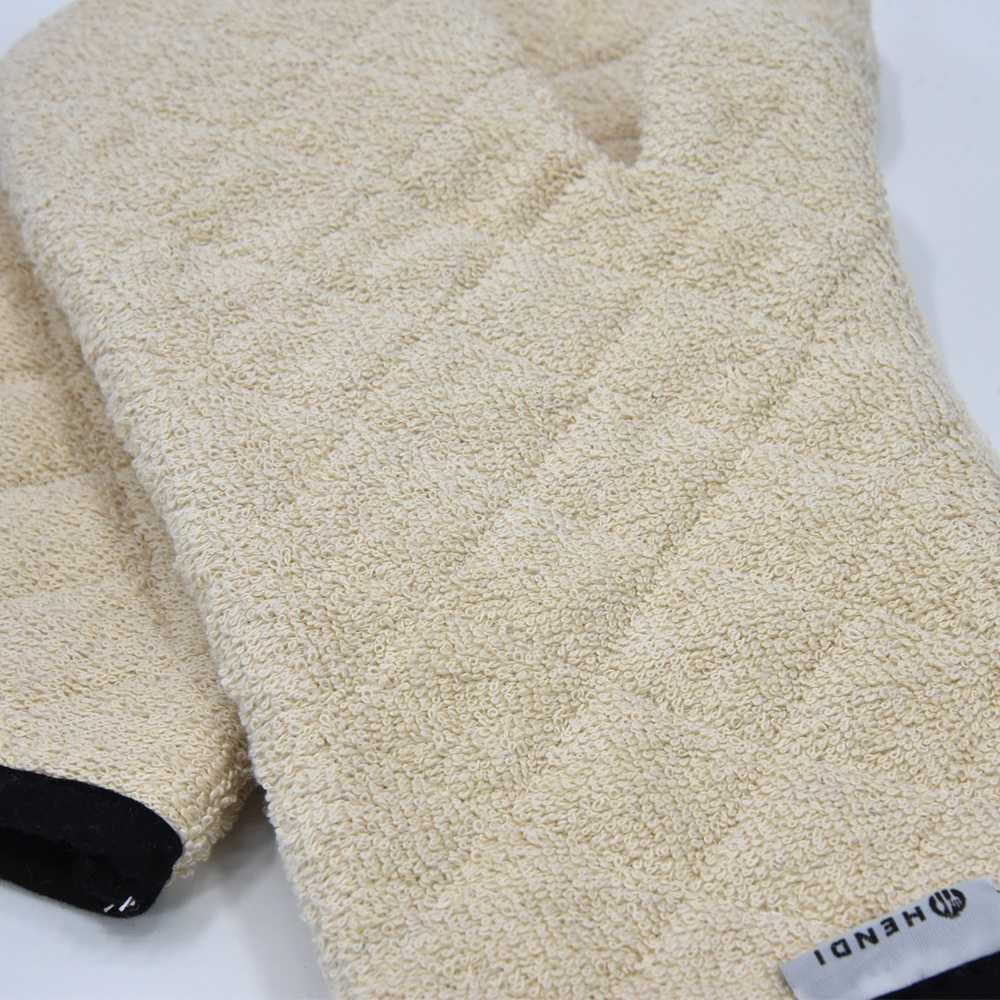 household baking microwave heat resistance kitchen cotton terry oven mitt
