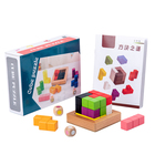 Educational Toy Puzzle 3d 3d Wooden Good Quality Educational Toy Kids Cube Puzzle 3D Version For Sale Wholesale