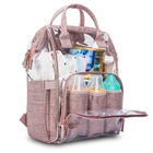 New design multi-Functional clear Transparent Travel Baby diaper bag Backpack