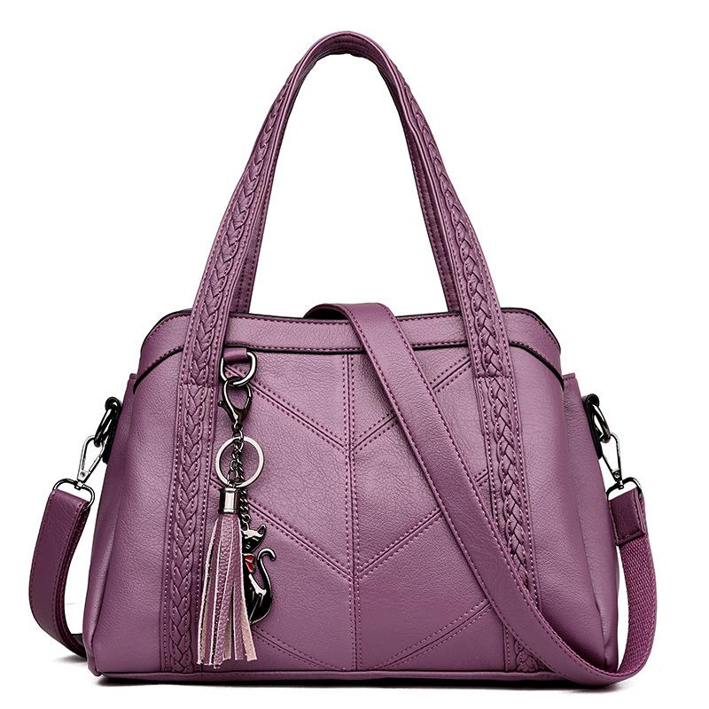 Сумка женская натуральная кожа большая 2020 женские сумки чёрные шоппер ZDG сумка женская через плечо кожанная()