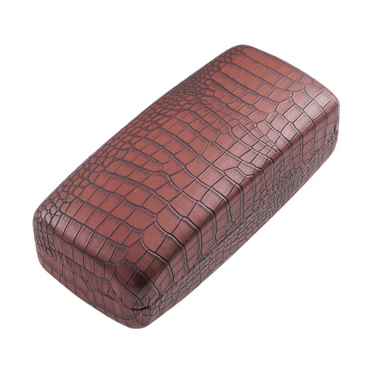 Антискользящая Подарочная коробка для хранения очков, футляр из искусственной кожи крокодила с клапаном