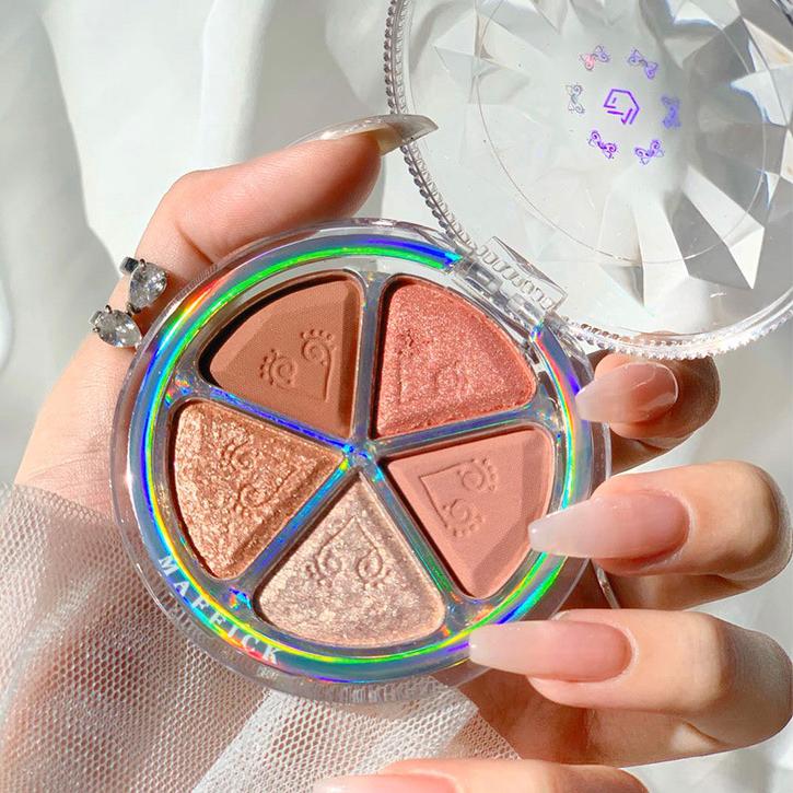 Индивидуальный Логотип Румяна под макияж, кисть для румян 5 видов цветов, Длительное Действие, водонепрорицаемый, совершенное оснащение лицевой косметики Румяна Сделано в Китае
