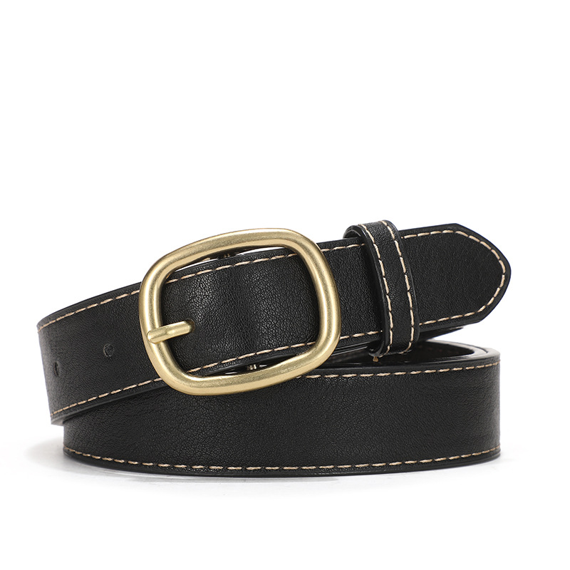 2020 Versatile Casual Fashion Youth Belt Buckle Leather Belt For Women