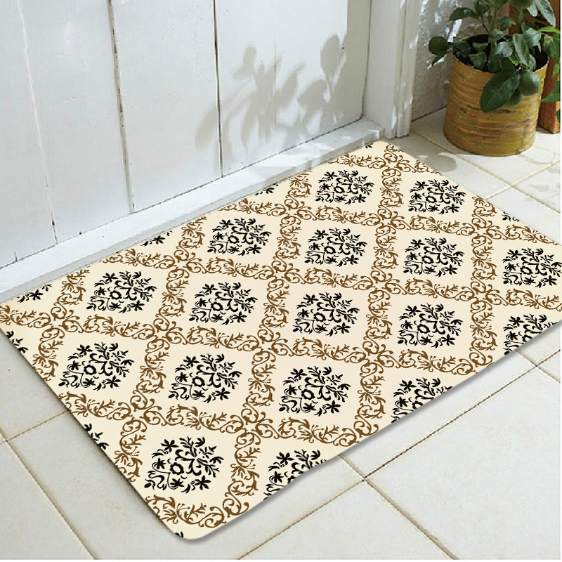 Living room entrance printed large dark geometric pattern home floor door mats