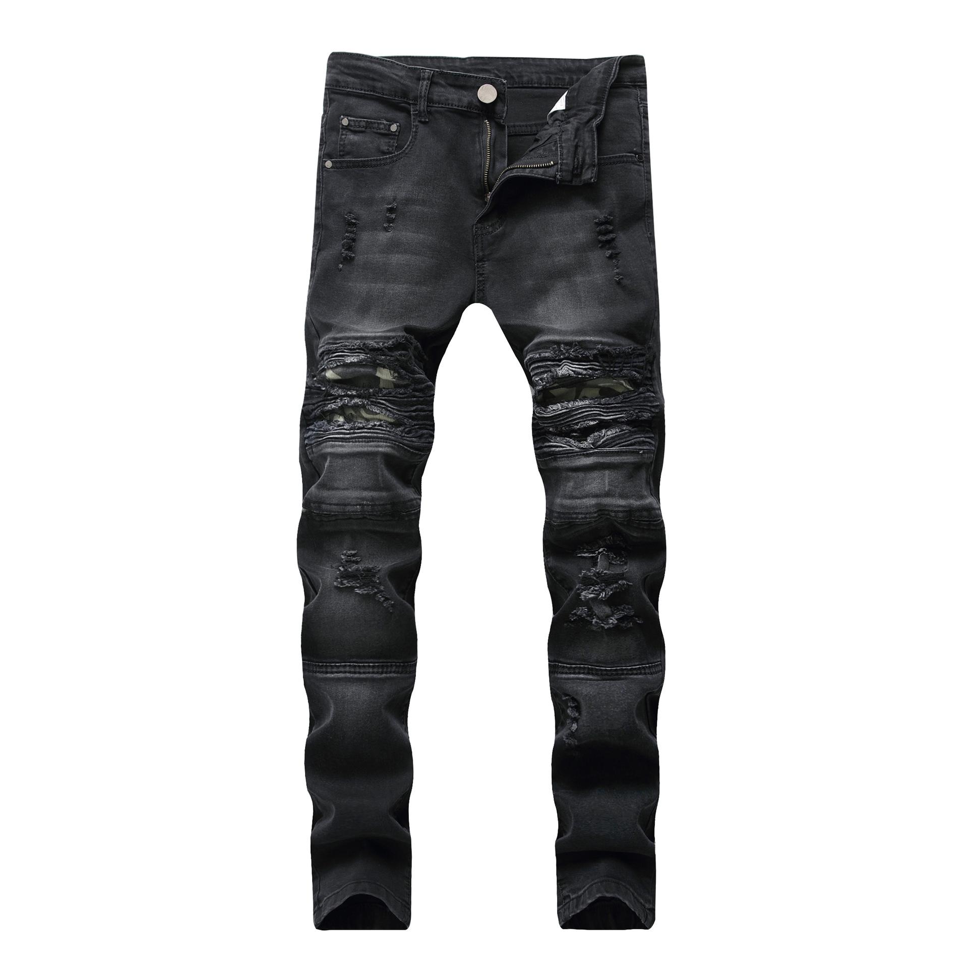 Los Hombres Esta Roto Pies Elasticos De Corte Slim Casual Jeans De Camuflaje Pantalones De Los Hombres De Diseno Unico Pantalones Vaqueros De Tipos De La Calle Vaqueros Buy Tipos De