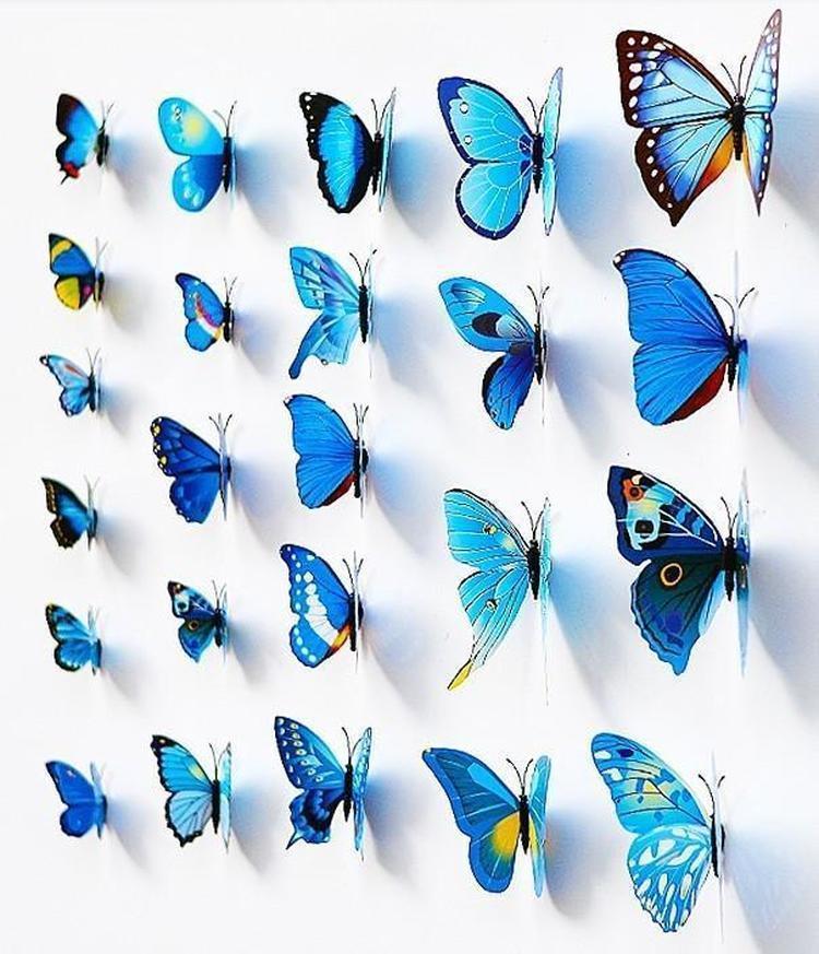 12pcs PVC 3d Butterfly wall decor home bedroom Mariposas art Decals