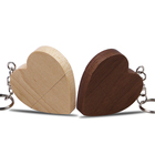 Oem Cool Gadgets Wedding gift pen drive 4gb 8Gb 16Gb 32Gb 64Gb Wood Heart shape USB flash drive