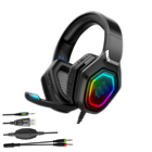 Headsets Cool Headset Professional Surround Sound For Computer Wired Headsets With Mic Led Light Headphone Cool Gaming Headset Gamer Headphones