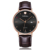 Leisure Style Stainless Steel Case Back 5 ATM Water Resistant Quartz Mens Leather Wrist Watch