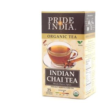 Organic Indian Chai Masala Spice Tea 1-Pack (25 Tea Bags)