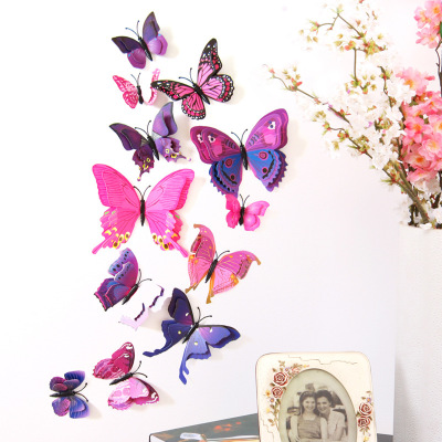 butterfly decorations wholesale 3D Butterfly Wall stickers home decor for kids room Mariposas