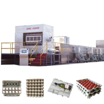 Fully automatic egg tray production line with stacking machine