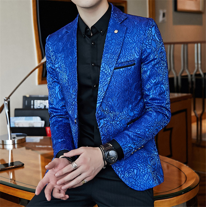Wholesale Long Sleeve Casual Plaid Style Wedding Suit Coat Men Suit Jackets Blazers