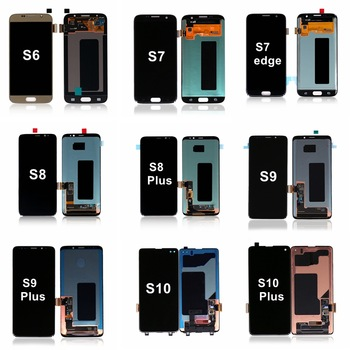 S8 LCD Screen Replacement For Samsung For Galaxy S2 S3 S4 S5 S6 S7 S8 S9 S10 Plus S6 S7 Edge Plus Display Digitizer Assembly