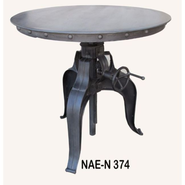 Industrial Vintage Cast Iron Dining Table With Round Wood Top Buy Vintage Iron Crank Dining Table Solid Wood Flip Top Dining Table Round Wood Dining Table With 6 Chairs Product On Alibaba Com