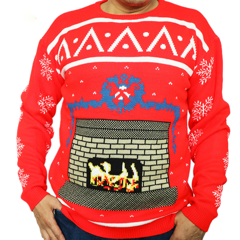 Wholesale Christmas sweater fall winter Plus size Men sweater Custom Knitted Jumper Funny Ugly sweater christmas