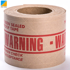 Water Activated Reinforced Gummed Kraft Paper Tape With Two Color Printed Customized Packing Tape For Carton Sealing