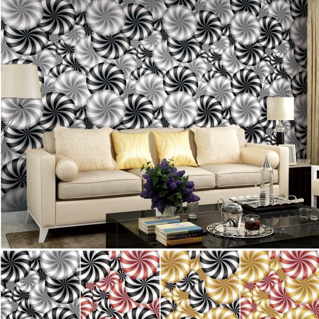Высококачественные настенные бумажные красочные обои, дизайн для домашнего декора, 3d ПВХ обои