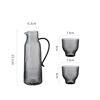 Gray pot+2 cups