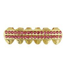 GENBOLI металлические хип-хоп подтяжки Топ и низ зубы шикарные зубы Набор Хэллоуин вечерние ювелирные изделия тела металлический зуб(Китай)