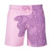 Anak geometris strip merah muda ungu
