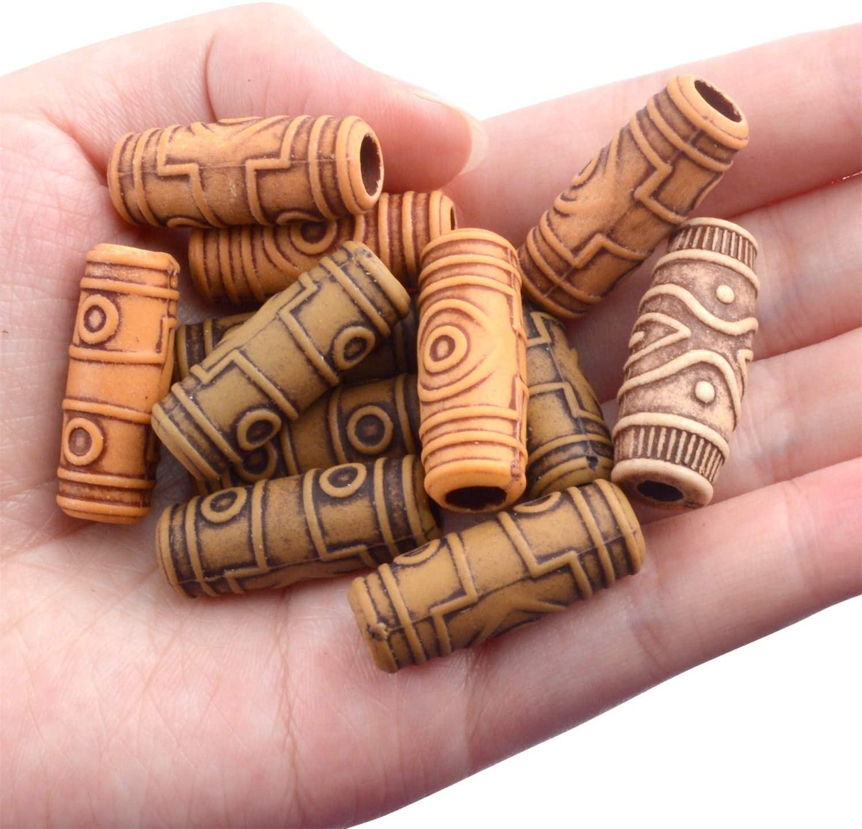 Zoesoul оптовая продажа, деревянные бусины для волос, набор инструментов для наращивания волос, цилиндрические бусины для наращивания волос