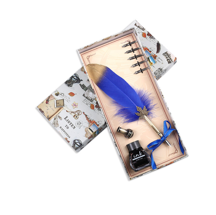 Перьевая ручка с чернилами в стиле ретро, набор для каллиграфии с перьями, ручка для письма для детей, для друзей, для дня рождения, праздника, рождественский подарок, набор