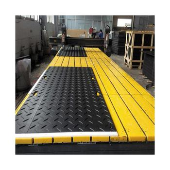 UHMW 100% HDPE HDPE construction track road mat / ground protection mat HDPE / HDPE temporary road mats manufacture