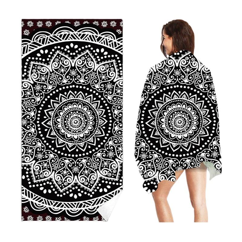 2021 Popular Design Stick Wholesale Mandala Print Vietnam Use Microfiber Beach Towel