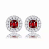 18k gold 1.62ct natural ruby earrings