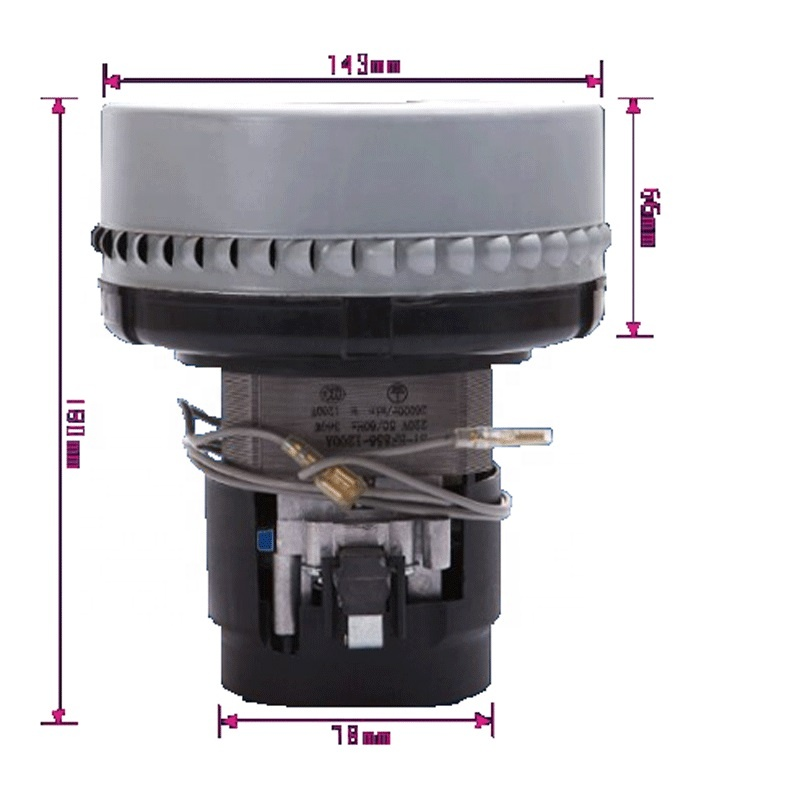 Двухступенчатый электрический пылесос BF856 класса F, 2 л.с., 2500 об/мин, 1000 Вт, 1200 Вт, 1500 Вт, мотор для промышленного пылесоса для сухой и влажной уборки