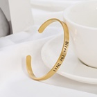 Bangles Custom Name Gold Plated Bracelets Engraved Inspirational Cuff Bracelets Bangles Women Stainless Steel Hidden Message Jewelry