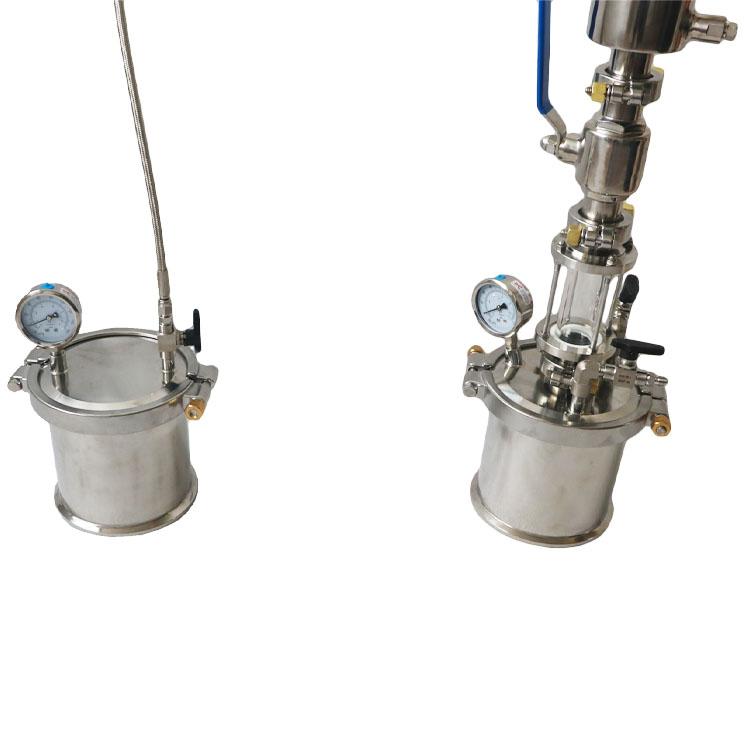 135 грамм бутанового экстракта с замкнутым циклом со столбом для удаления воска, резервуаром для восстановления, шаровым клапаном, смотровым стеклом TC