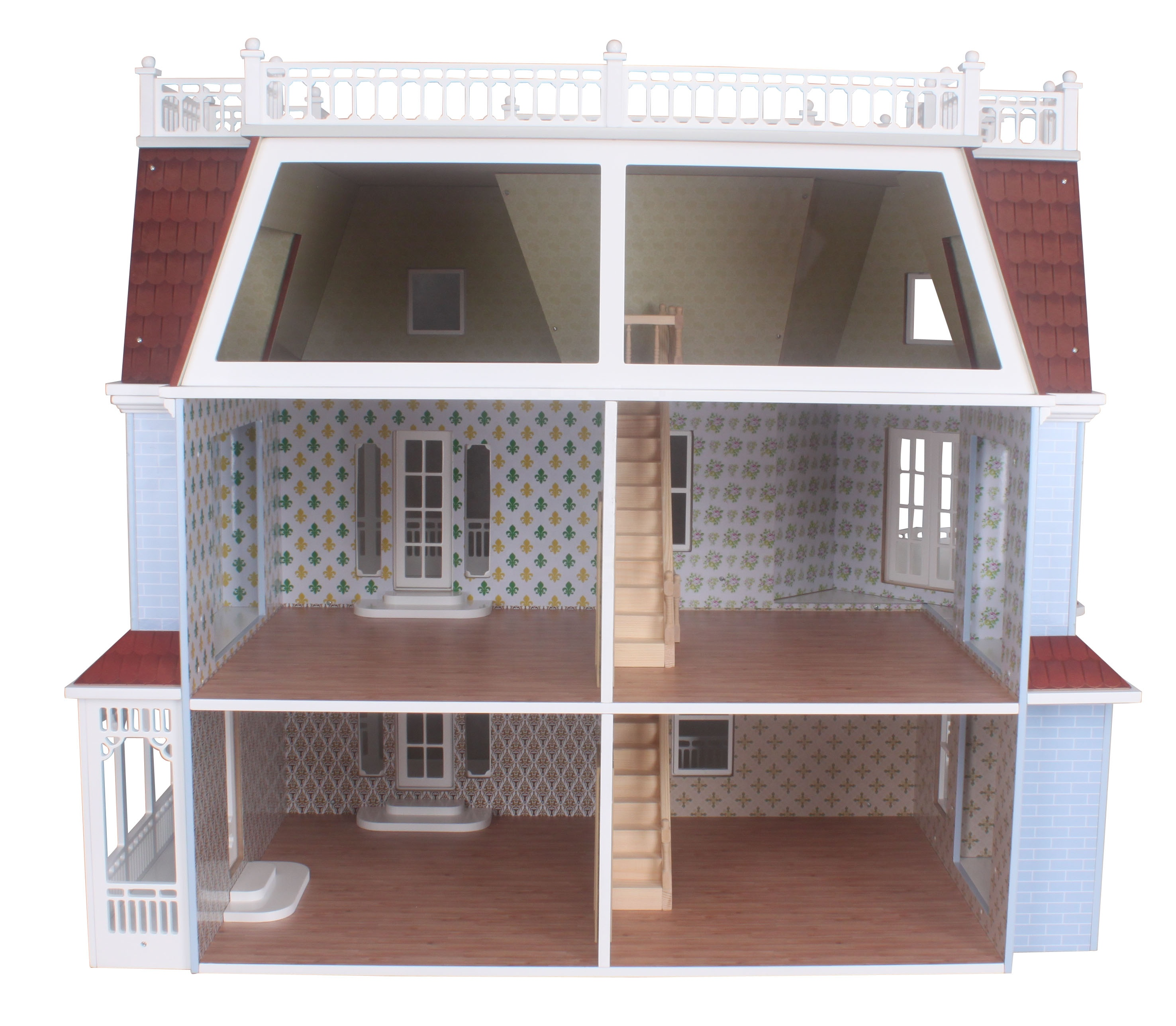 Wooden splendid doll house