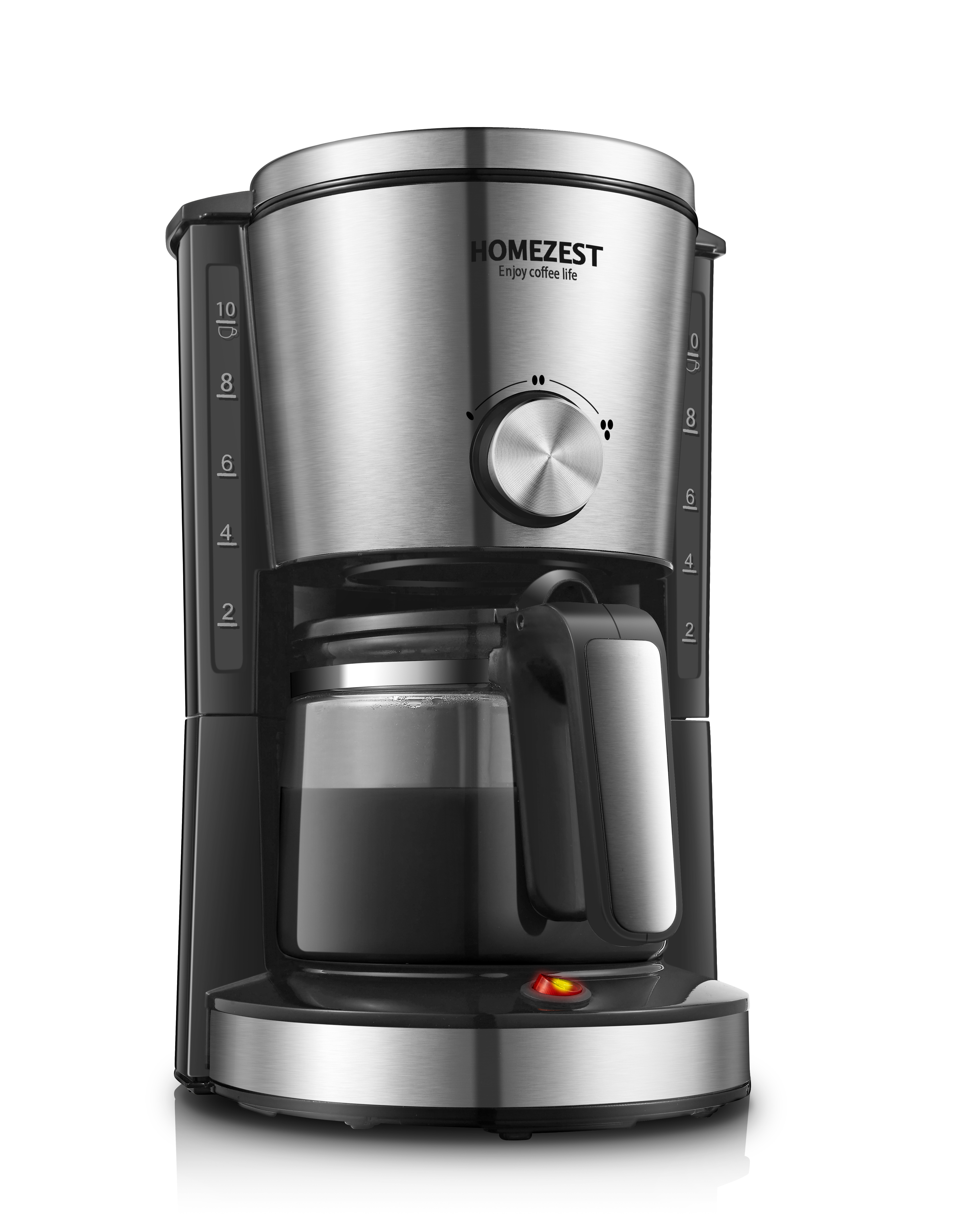 HOMEZEST CM-338BEA COFFEE Maker Drip COFFEE Machine Cups Stainless Steel 1.25L 10-12 CB Ce Garage Hotel Household ROHS 2 Years