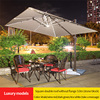 4-Lux 3m square doul canopy with marble base