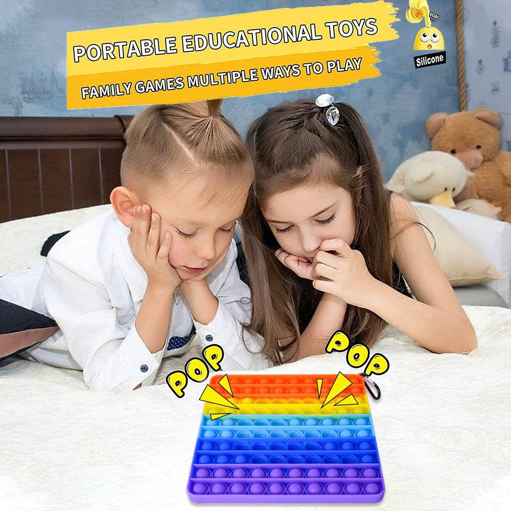 Игрушка антистресс с пузырьками, Игрушка антистресс с особыми потребностями при аутизме, силиконовая игрушка для снятия стресса, обучающие игрушки