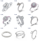 925 Silver Rings Silverrings New Fashion Jewelry 2021 925 Sterling Silver Zircon Wedding Rings