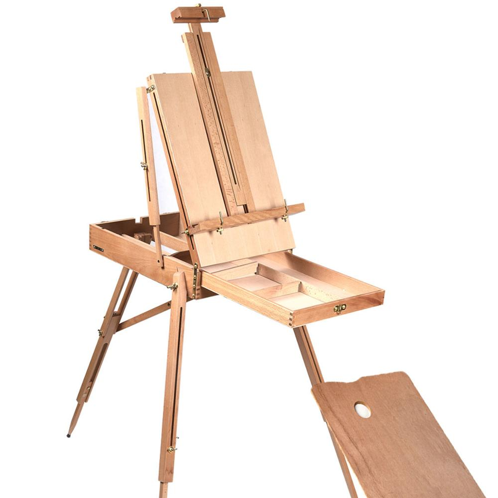 Artist Painter Tripod Portable Wooden Sketch Box French Easel For Artist Painting